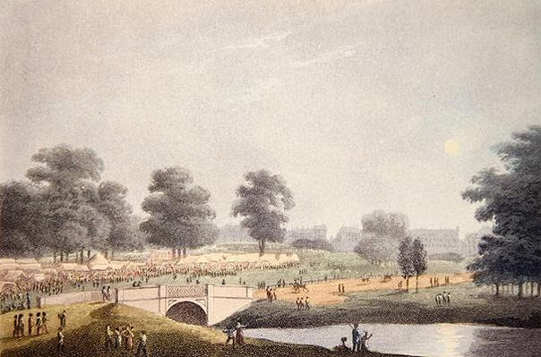 The View of the Fair in Hyde Park, engraved by Matthew Dubourg, 1st August 1814