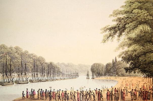 The Fleet on the Serpentine River, engraved by Matthew Dubourg