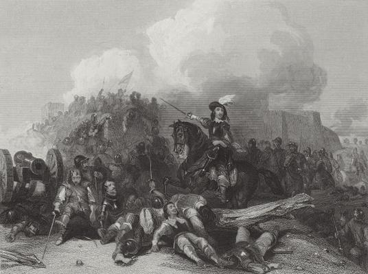 Storming of Bristol, engraved by J.C. Varrall 1844