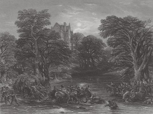 The Scots pursued after the Battle of Preston, engraved by J.C. Varrall, 1844