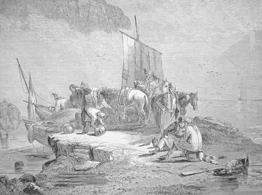 Smugglers landing their cargo, 1850
