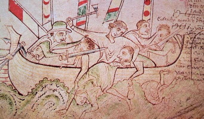 Eustace the Monk, captured by the English and beheaded on his ship in 1217