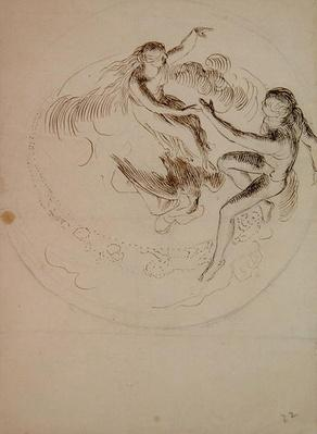 Study for a circular ceiling decoration