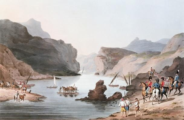 Pass of the Tagus at Villa Velha into the Alemtejo, 20th May 1811 engraved by C. Turner
