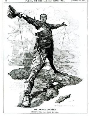 The Rhodes Colossus, from 'Punch', 10th December 1892