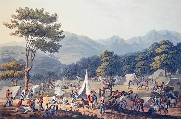 Troops Bivouacked near Villa Velha, engraved by C. Turner, 19th May 1811