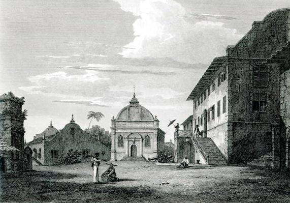 Government House at Malacca, engraved by George Cooke