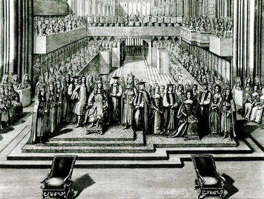 The Enthroning of King James II and Queen Mary