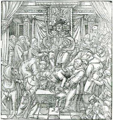 The Pope suppressed by King Henry VIII, 1534