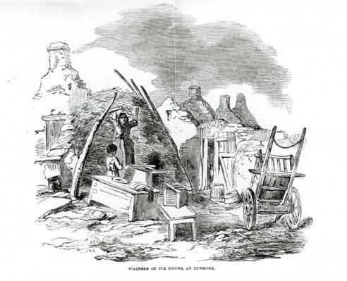 Scalpeen of Tim Downs, at Dunmore, from 'The Illustrated London News,' Sunday 22nd December 1849