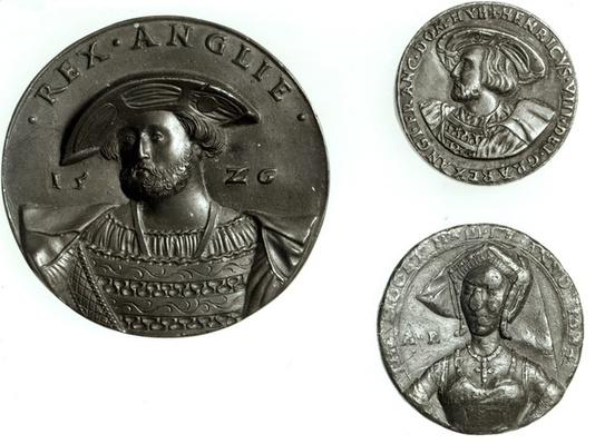 Coins depicting Henry VIII and Anne Boleyn