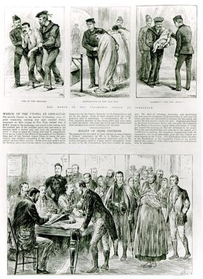Relief of Irish Distress, from 'The London Illustrated News,' 1891