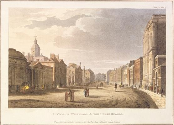A View of Whitehall and The Horse Guards, from Ackermann's Repository of Arts, 1st June 1811