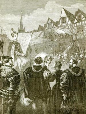 Queen Elizabeth entering London