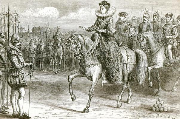 Queen Elizabeth at Tilbury