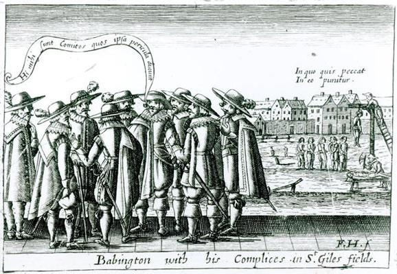 Babington with his Complices in St. Giles Fields, 1586