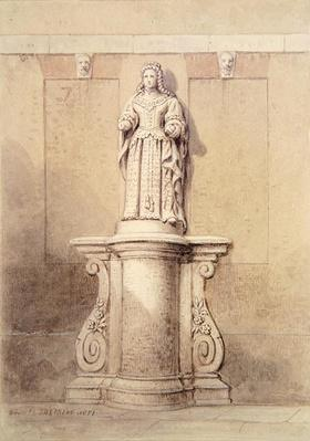 Statue of Queen Anne at the East End of Queen Square, 1851