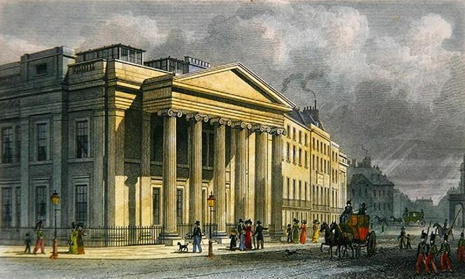 The New College of Physicians, Pall Mall, East, engraved by Thomas Barber