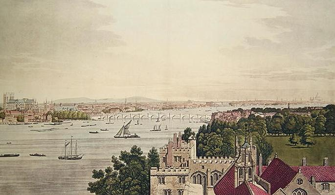 View of London from Lambeth, engraved by J.C Stadler
