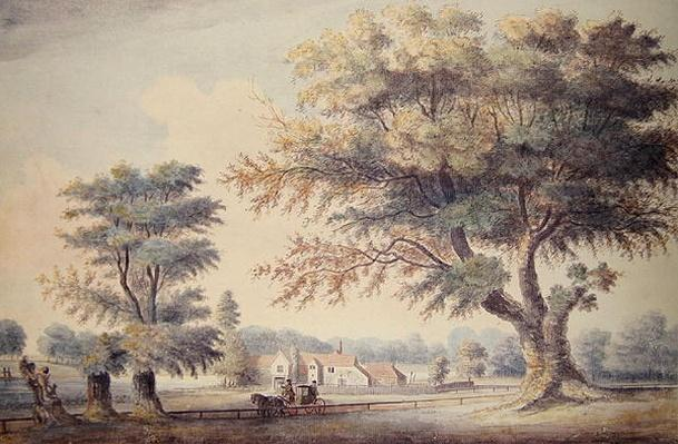 The Old Cheesecake House, north of the Serpentine, 1786