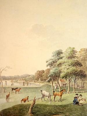 The East End of the Serpentine, and a Distant view of the Bathing House, 1794