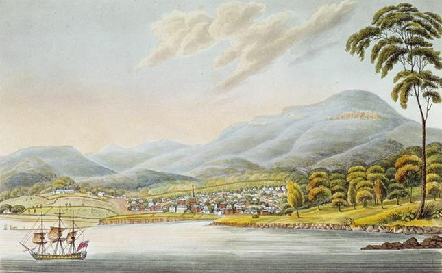 View of Hobart Town, 1824