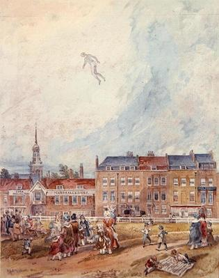An Aerial Guy Fawkes, 1840
