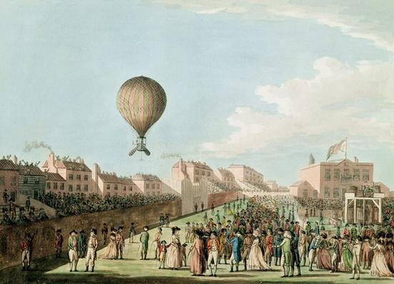 Vincent Lunardi's Aerial Ascent from the Artillery Ground, 15th September 1784