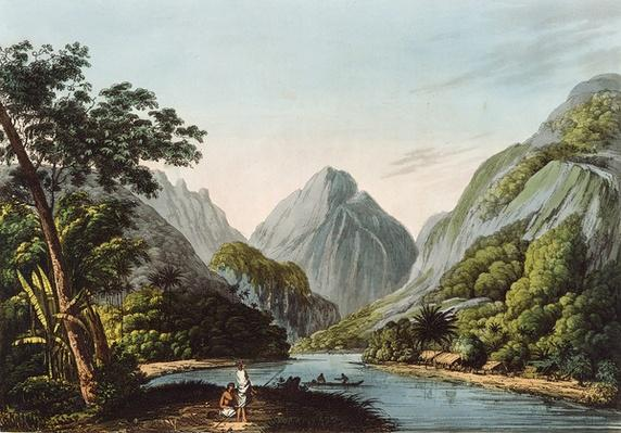 A View in Oheitepha Bay on the Island of Otaheite, from 'Captain Cook's Last Voyage', 1809