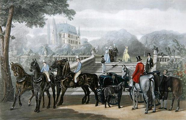 The Start, engraved by R. Woodman
