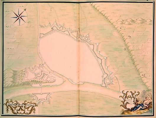 Namur, from 'Atlas de Louis XIV. Plans des places etrangeres', 1665