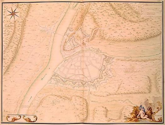 Namur and the surrounding area, from 'Atlas de Louis XIV. Plans des places etrangeres', 1665