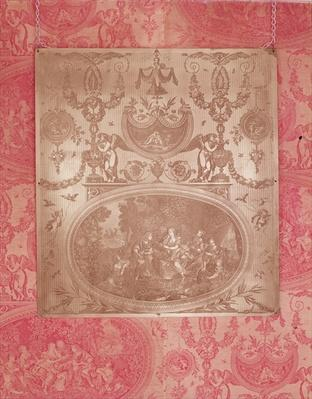 The Story of Telemachus, plate for printing on Toile de Jouy fabric