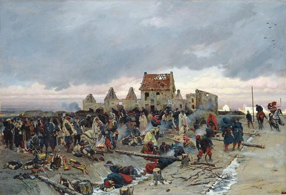 Bivouac at Le Bourget after the Battle of 21st December 1870, 1872