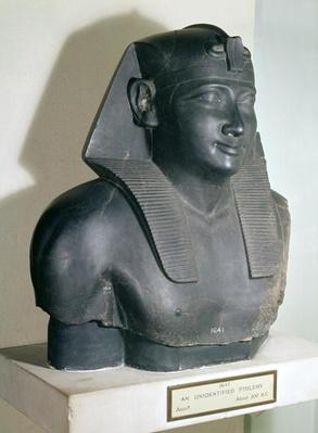 Fragment of an Egyptian style statue of Ptolemy I, 305-283 BC