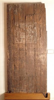 Wooden door from the tomb of Khonsuhotep New Kingdom, c.1285 BC