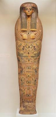 Egyptian coffin of an unnamed person decorated with ritual scenes, c.1050 BC