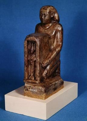 Pedesi holding a naos of Osiris