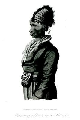 Portrait of Speelman, a Hottentot, 1814