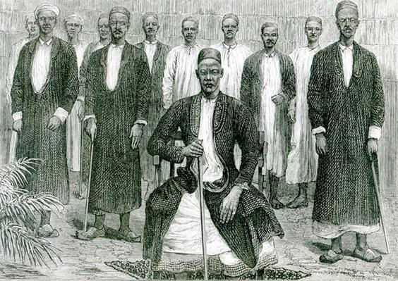 Mtesa,the Emperor of Uganda and other chiefs