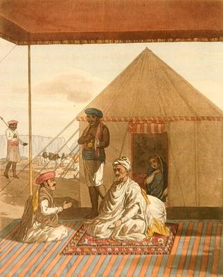 A Mahratta Pandit and his Family, from 'A Mahratta Camp', 5th April 1813
