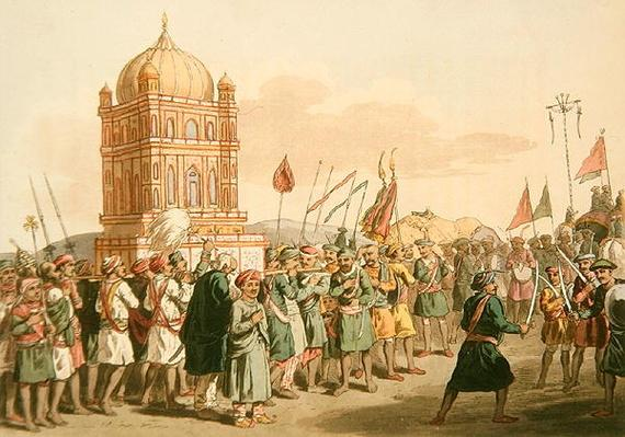 The Procession of the Taziya, from 'A Mahratta Camp', 5th April 1813