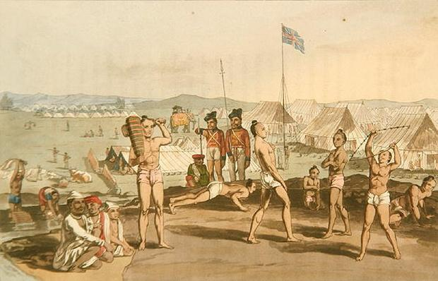 An Ukhara with a view of the British Residents Camp, from 'A Mahratta Camp', 5th April 1813