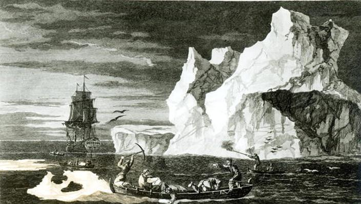 The Ice Islands on the 9th January 1773, engraved by B. T. Pouney, 31st Feb 1777