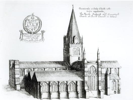 The North Prospect of Conuentuall Church of Christ Church in Oxford