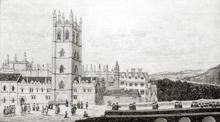 Magdalen College, Oxford in the 17th century