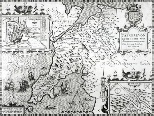 Map of Caernarvon, 1616