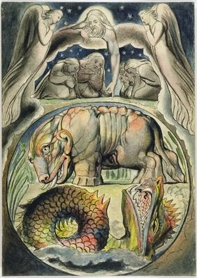 Behemoth and Leviathan, after William Blake