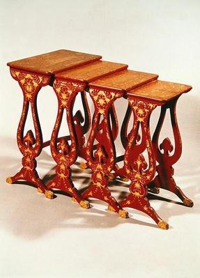Nest of tables, Napoleon III Style