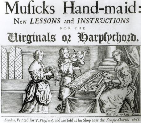 New lessons and instructions for the harpsichord or virginals